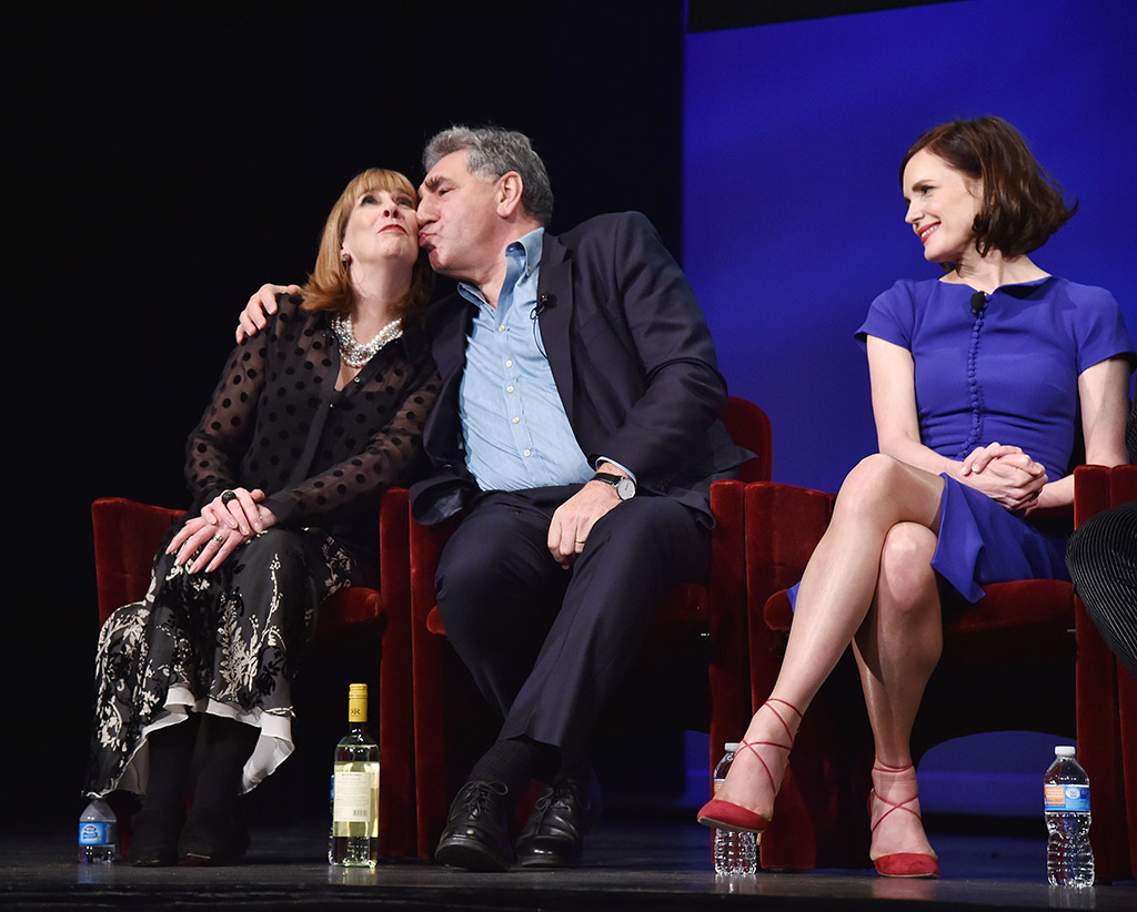 Mandatory Credit: Photo by Andrew Walker/Variety/REX Shutterstock (5480358aq) Phyllis Logan, Jim Carter, Elizabeth McGovern 'Downton Abbey - The Final Season' TV series premiere, New York, America - 07 Dec 2015
