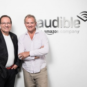 Peter James and Hugh Bonneville in conversation